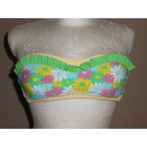 Xhilaration! Coqueto Top De Bikini Strapless, Con Flores, S
