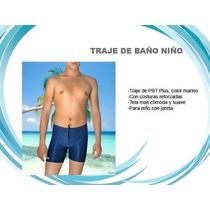 Traje De Baño Natacion Niño Talla 8-10 Marino Tbpljanosma