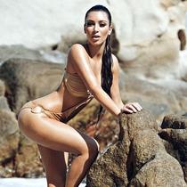 Monokini Mujer Beige Traje De Baño Dama Playa Bikini Unitall