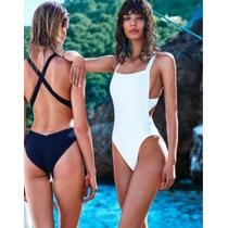 Hermoso Traje De Baño Completo Mujer,espalda Cruzada