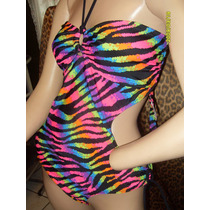 Trikini Traje Baño Bikini Animal Print Op T L 7 9 Mex Nuevo