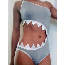 Hermoso Trikini Monokini Traje De Baño Tiburon Tallas S Y M