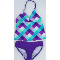 Bikini 2 Piezas Color Morado Stilo Niña Tn3