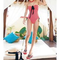 Bikini Monokini Vintage Traje De Baño Mujer Dots