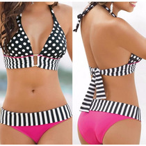 Elegante Bikini Traje De Baño Sexy Playa Set Bandeau Verano