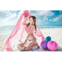 Sexy Bikini Traje De Baño Etnico Cruzado Push Up Ethnic