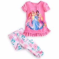 Conjunto De 2 Piezas Pijama De Niña Disney De Las Princesas
