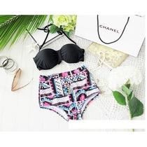 Bikini Traje De Baño Tribal Playa Halter Talla Extra Plus Xl