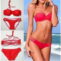Hermoso Bikini Rojo Push Up Entrega Inmediata!!!