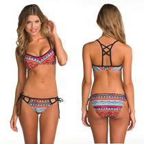 Trajes De Baño Bikini Estampado Geometrico Moda Importada