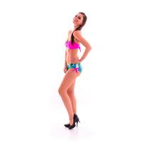 Bikini Straple Rosa Con Estampado Selva