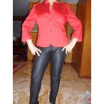 Saco De Color Rojo Marca Zara Talla 32