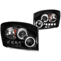 Dodge Ram 06-07 Projector H.l Halo Black Clear Amber