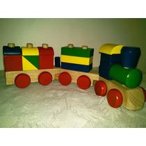 Tren Didáctico De Madera Importado