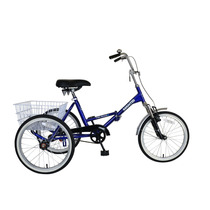 Triciclo Plegable Bicicleta Con Canasta Cycle Force Adultos