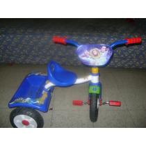 Triciclo Buzz Lightyear Azul Con Canasta Trasera