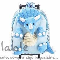 Mochila Para Niños De Dinosaurio 3d Azul
