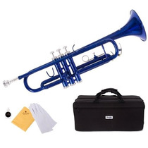Trompeta Mendini En Cecilio Mtt-bk Color Azul