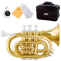 Mini Trompeta Mendini Dorada + Estuche + Envío Remate $4,199
