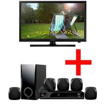 Kit Pantalla Tv Led 24 Samsung + Teatro Casa Lg 5.1 Canales