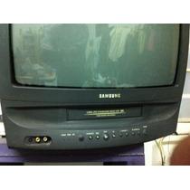 Tv Television Samsung Con Vhs Integrada Con Control Remoto