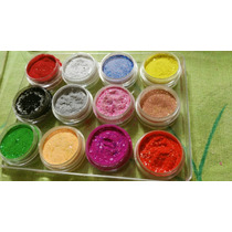 Set De 12 Acrilicos De Colores