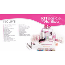 Kit De Uñas Cortatip Pincel 10 Decorados Crystales