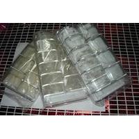 Caja De 500 Tips Cristal Natural Y Blanco Solo $75