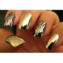 Tip Oro Y Plata Uñas Acrilicas Decoracion