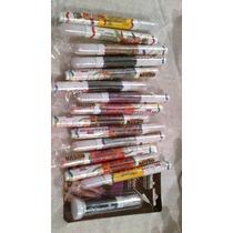 6 Stilografos Colores Uñas De Acrilico 3d Moldes Pincel Fimo