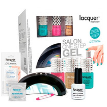 Kit Lacquer Evolution 5 Esmaltes + Lampara + 8 Regalos