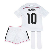 Real Madrid James- Niños (camiseta + Short + Medias) Blanco