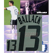 Estampado Alemania Local Mundial 2002 #13 Ballack $ 199