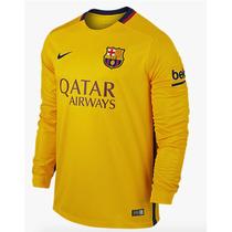 Jersey Nike Barcelona Visita 2015-16 Manga Larga Original