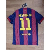 Playera Barcelona 2015 Neymar 11 + Parche Ucl Envio Gratis
