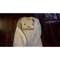 Jersey Adidas Real Madrid 15-16 Local Manga Larga Original