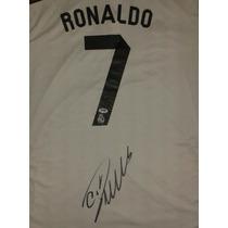 Jersey Autografiado Firmado Cristiano Ronaldo Real Madrid
