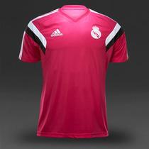 Playera T-shirt Entrenamiento Real Madrid Rosa 2015 Adidas