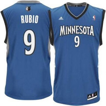 Jersey Adidas Ricky Rubio (talla S) Wolves Minnesota Nba