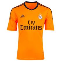 Jersey Real Madrid Tercer Uniforme 2014 Color Naranja Adidas