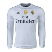 Jersey Real Mad 15-16 Loc Manga Larga + Parche Campeon Fifa