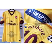 Arsenal Match 100% Utilería Wilshere Uefa Champions League