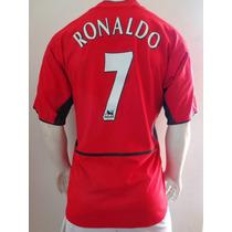 Playera Manchester United De Utileria Ronaldo Doble Tela