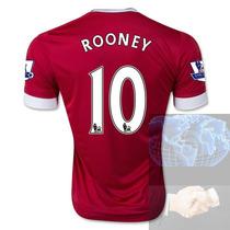 Jersey #10 Rooney Manchester United Rojo Adidas 2016 Roja Lo