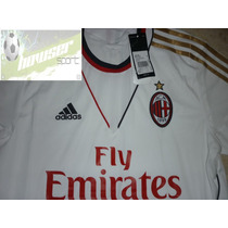 Jersey Adidas Milan Italia Calcio 13-14 Manga Corta, Visita