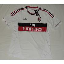 Jersey Milan De Italia Visita 2014 Marca Adidas