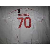 Jersey Milan De Italia Visita Robinho 70 Marca Adidas