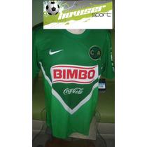 Jersey Nike Aguilas Del America 2014 Verde 100%original Gala