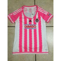 Jersey Adidas Chivas Rayadas Guadalajara 15-16 De Mujer Rosa