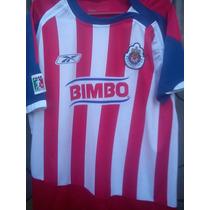 Jersey Chivas Guadalajara De Mexico Reebok Local 2007 M